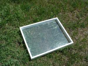 The top frame with plastic